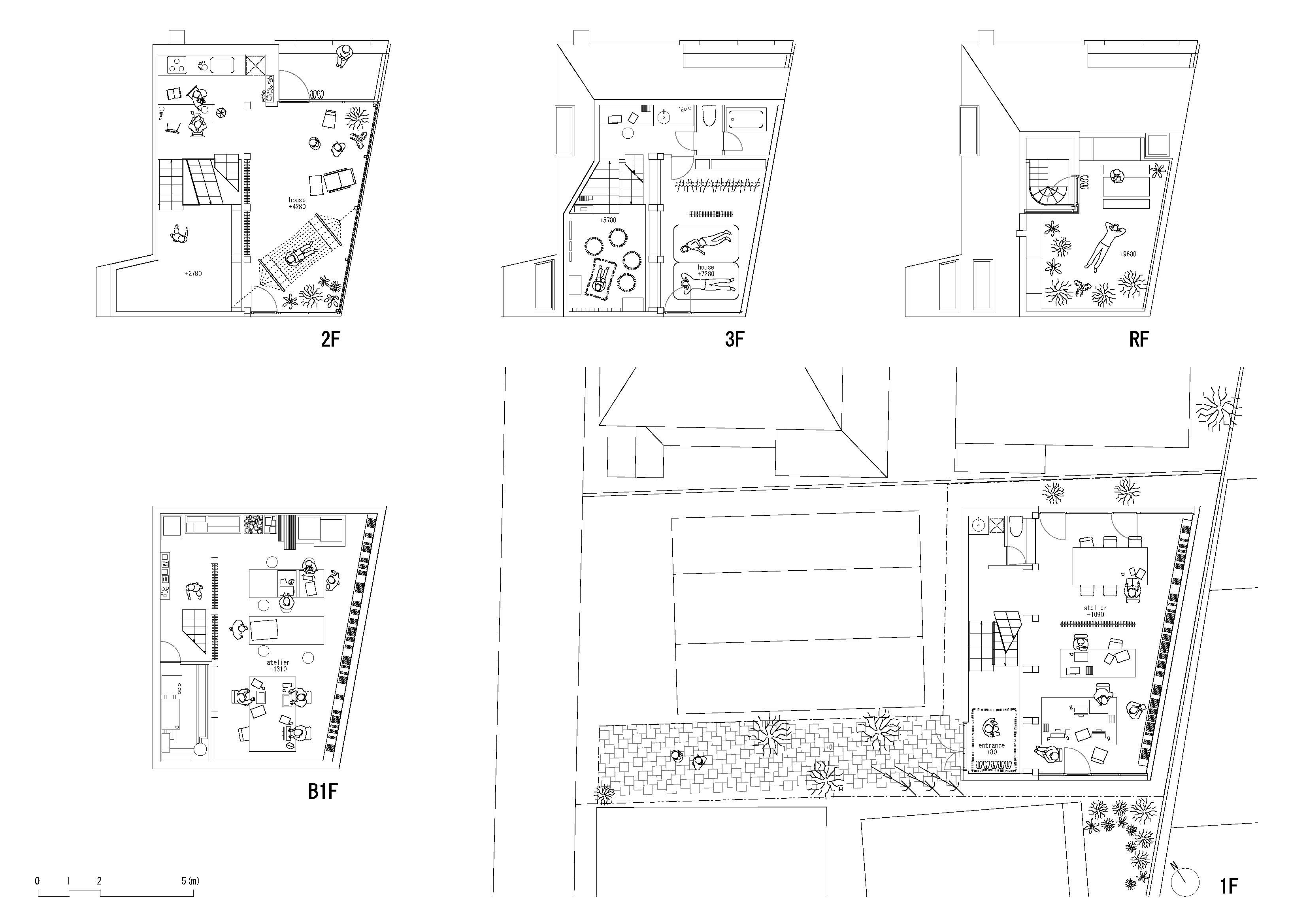 House and atelier bow wow the workhome project for Bow house plans